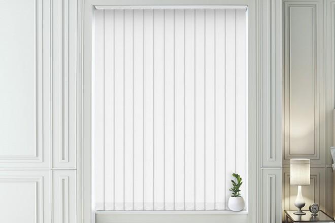 Olivia White - Shadow Pattern Vertical Blind