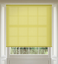 Panama Yellow - Patterned Roller Blind