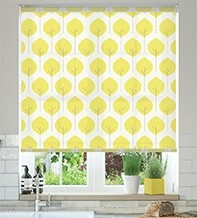 Primal Yellow - Patterned Roller Blind