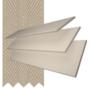 Charisma 35 Stone Fine Grain - 35mm Slat Faux Wood Blind Light Beige Tape