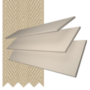 Charisma 35 Stone - 35mm Slat Faux Wood Blind Hessian Tape