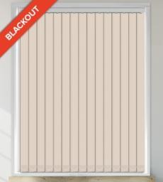 Swirl Cream - Shadow Pattern Waterproof Blackout Vertical Blind