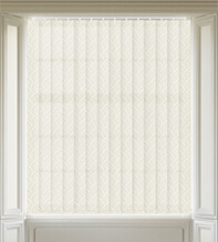 Tidal Ivory - Patterned Vertical Blind