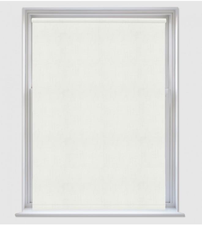 Grace White - Shadow Pattern Roller Blind