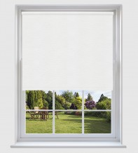 Lucy White - Shadow Pattern Roller Blind