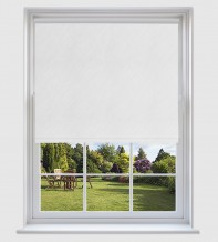 Isabelle White - Shadow Pattern Roller Blind