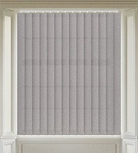Amber Mid Grey - Textured Vertical Blind