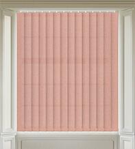 Amber Peach - Textured Vertical Blind