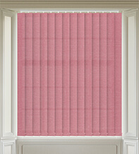 Amber Red - Textured Vertical Blind