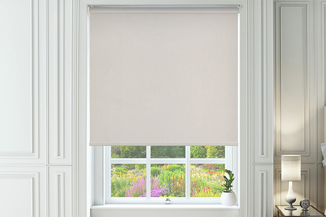 Canvas White - Textured Blackout Roller Blind
