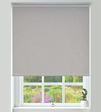 Canvas Light Grey - Textured Blackout Roller Blind