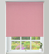 Canvas Red - Textured Blackout Roller Blind