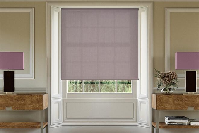 Dusk Purple - Textured Roller Blind