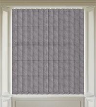 Fern Dark Grey - Patterned Vertical Blind