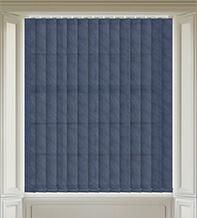 Fern Navy Blue - Patterned Vertical Blind