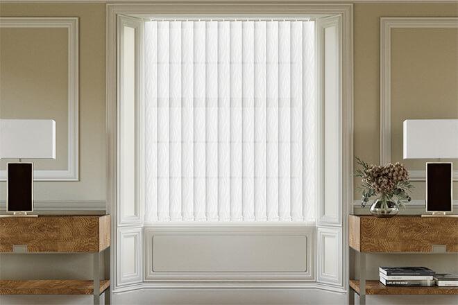 Madison Grey - Patterned Vertical Blind
