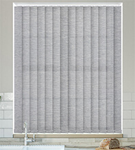Ophelia Light Grey - Textured Vertical Blind