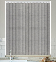 Ophelia Mid Grey - Textured Vertical Blind