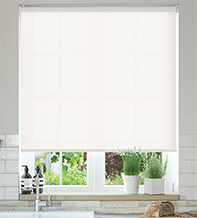 Ophelia White - Textured Roller Blind