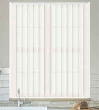 Ophelia White - Textured Vertical Blind
