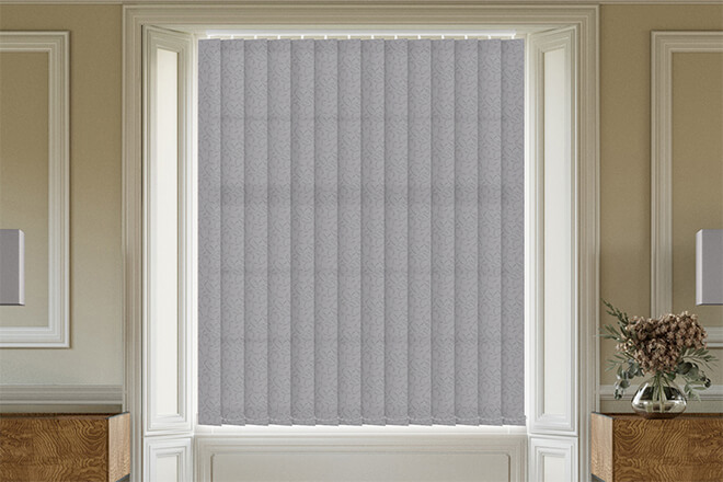 Fiorella Grey - Patterned Vertical Blind