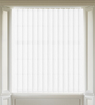 Maisie White - Patterned Vertical Blind