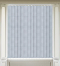 Panama Silver - Patterned Vertical Blind