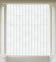 Panama White - Patterned Vertical Blind
