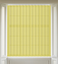 Panama Yellow - Patterned Vertical Blind