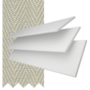 New England Chalk White Gloss - 50mm Slat Faux Wood Blind with Pebble Tape