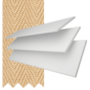 New England Chalk White Gloss - 50mm Slat Faux Wood Blind with Sand Tape