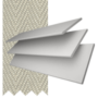 New England Chalk White - 50mm Slat Faux Wood Blind with Pebble Tape