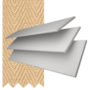 New England Chalk White - 50mm Slat Faux Wood Blind with Sand Tape