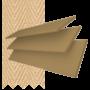 New England Golden Oak - 50mm Slat Faux Wood Blind with Sand Tape