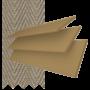 New England Golden Oak - 50mm Slat Faux Wood Blind with Stone Tape