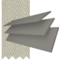 New England Grey - 50mm Slat Faux Wood Blind with Pebble Tape