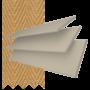 New England Natural Oak - 50mm Slat Faux Wood Blind with Caramel Tape