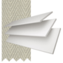 New England White Embossed - 50mm Slat Faux Wood Blind with Pebble Tape